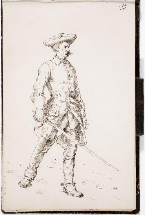 Kaarle XII:n sotilas, Gustaf Cederströmin mukaan, merkitty -79.