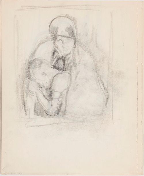 Luonnos maalaukseen Äiti ja lapsi (Pietà)
