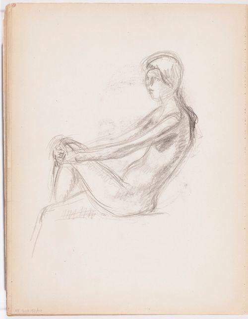 Istuva alaston naismalli