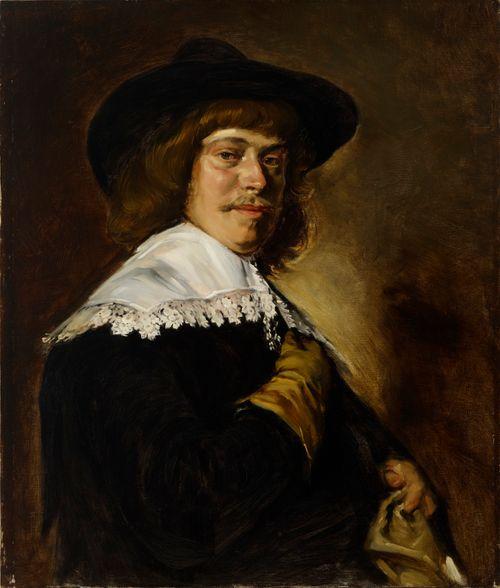 Mies leveälierisessä hatussa, kopio Frans Halsin mukaan