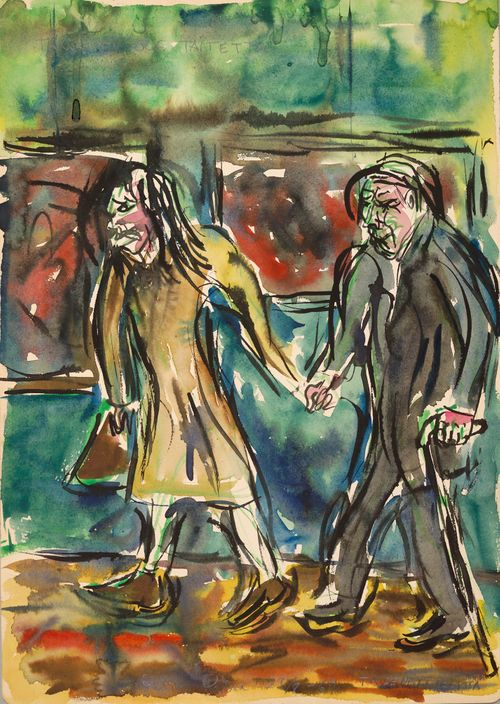 Taidenäyttelyssä