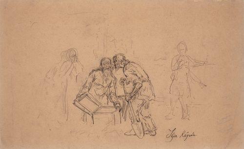 Aarteenetsijät (Kaksi miestä avaamassa arkkua)