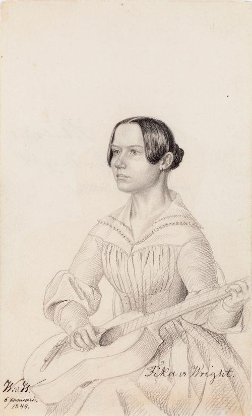 Fika von Wright, taiteilijan sisar