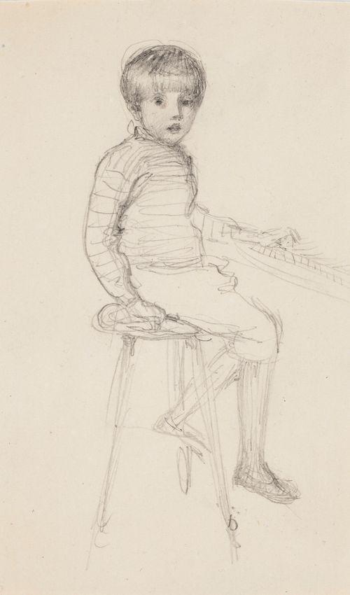 Heikki pianon ääressä