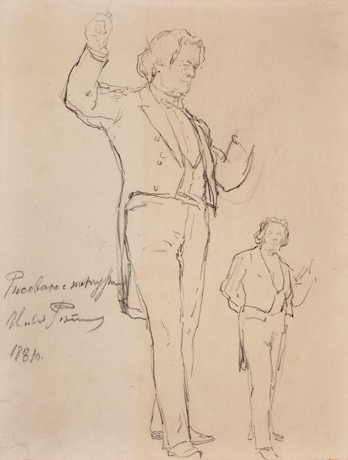 Pianisti Anton Rubinstein, muotokuvaluonnoksia
