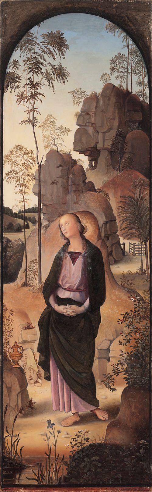 Maria Magdalena, kopio Peruginon triptyykin Ristiinnaulitseminen oikeasta siivestä