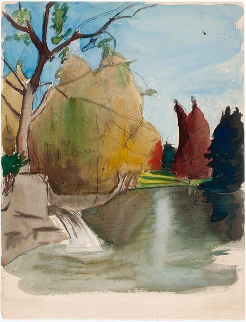 Maisema, mahdollisesti luonnos maalaukseen Fantasia 1895