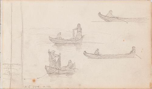 neljä venettä kalastajineen