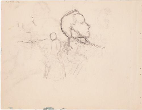 Miehen profiili ; luonnos maalaukseen Melankolia 1895
