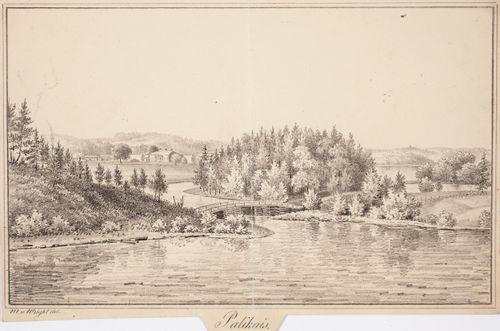 Palikainen, originaalipiirustus teokseen Finland framställdt i teckningar