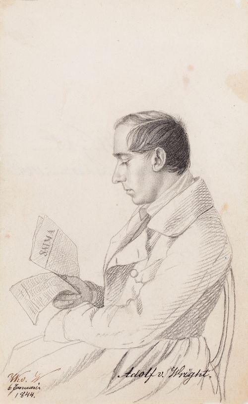 Adolf von Wright, taiteilijan veli