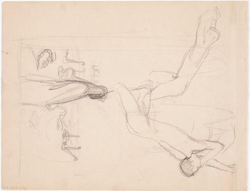 Luonnos maalaukseen Melankolia 1895 ; Luonnos maalaukseen Fantasia 1895