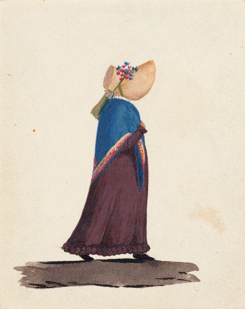 Nainen, saali ja hattu
