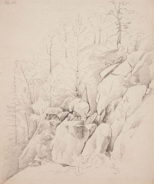 Falkberget (Haukkavuori) Riilahdessa, jyrkkä kalliorinne