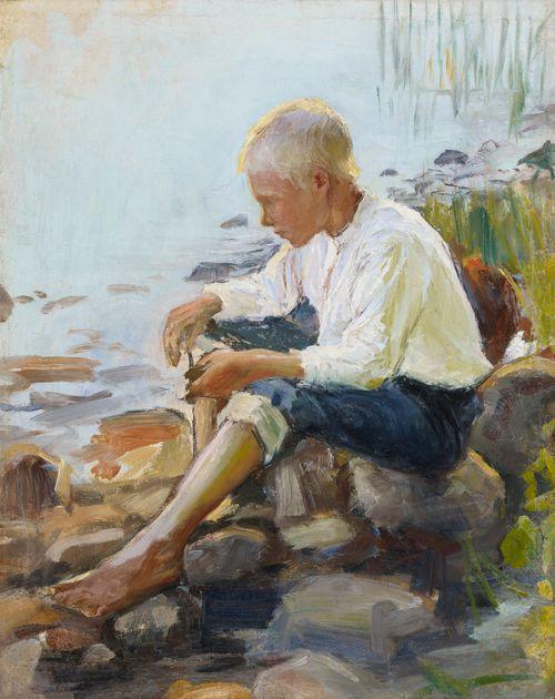 Poika rannalla
