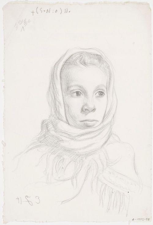 Huivipäinen tyttö (Fanny Vasenius)