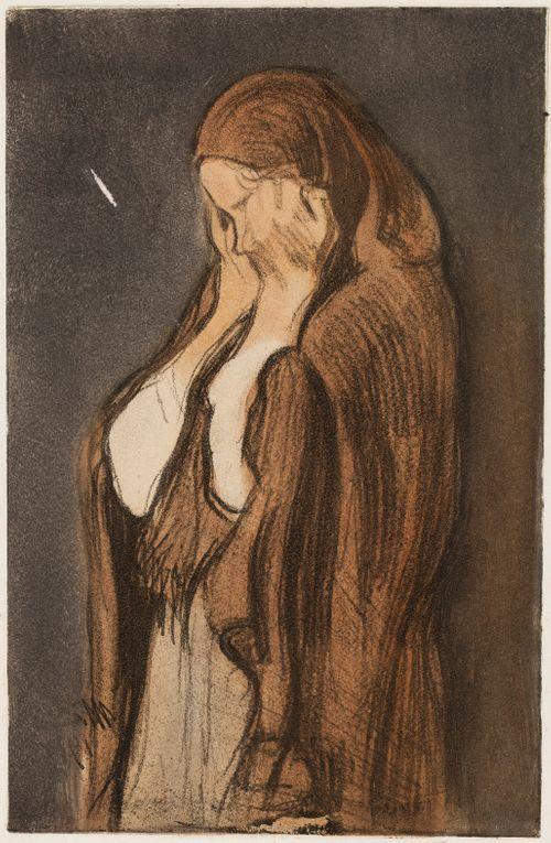 Itkevä nainen