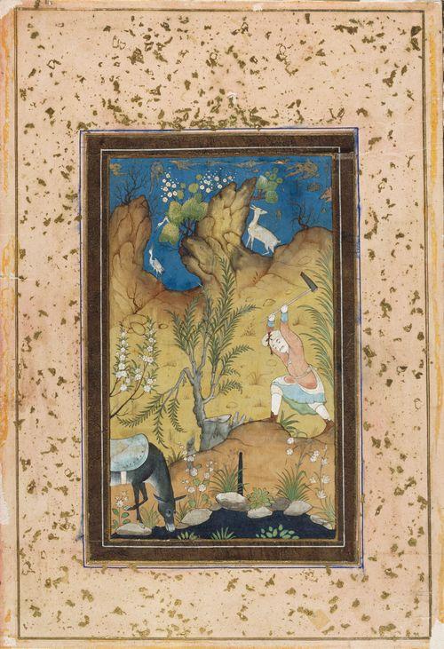 Farhad tekee maitojohtoa Shirinin palatsiin