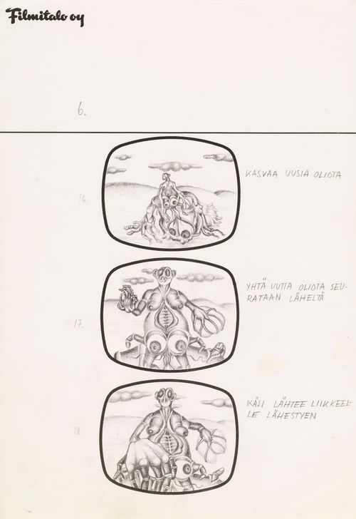 Storyboard animaatioelokuvaan