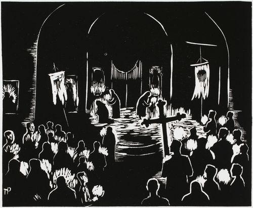 Pääsiäisyön jumalanpalvelus Pyhän ristin kirkossa