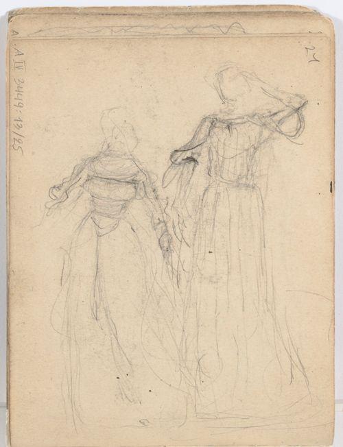 Kaksi naista historiallisessa puvussa