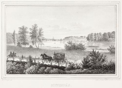 Munkkiniemi, kuvitusta teokseen Finland framställdt i teckningar, vihkot XIII ja XIV