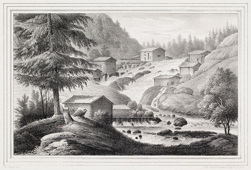 Kyröskoski, kuvitusta teokseen Finland framställdt i teckningar, vihkot XXIV-XXVII