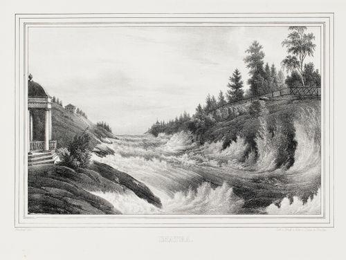 Imatra, kuvitusta teokseen Finland framställdt i teckningar, vihkot XXIV-XXVII