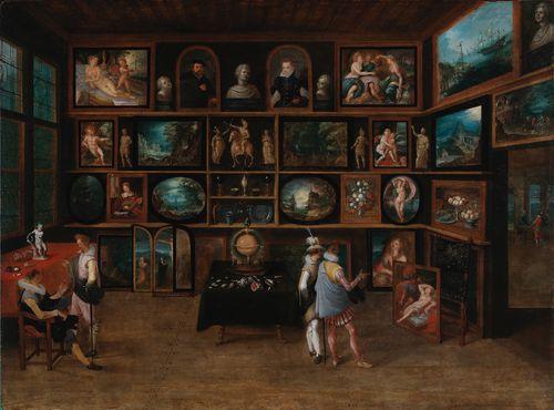 Taiteenystäviä galleriassa