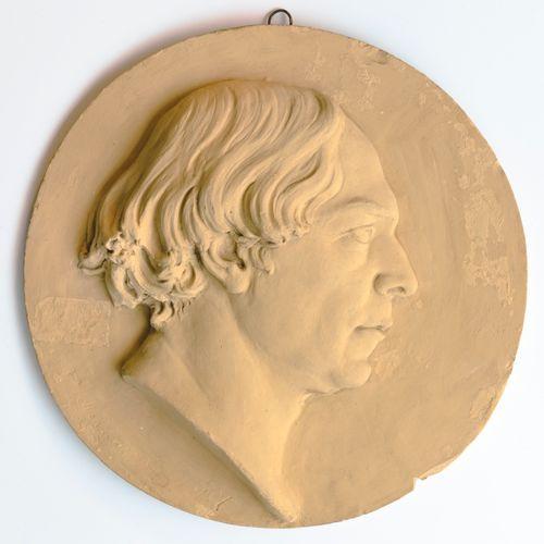 Taidemaalari R. W. Ekmanin muotokuvamedaljonki