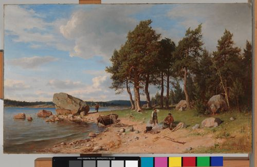 Kalastajia rannalla