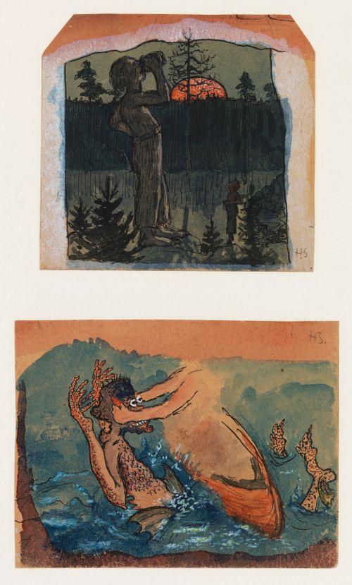 Fantasia 1. Kuu nousee (Jättiläinen juo) 2.Luonnos Väinämöiseen ja Ikitursoon