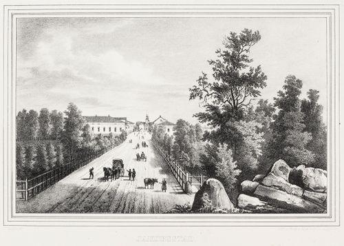 Pietarsaari, kuvitusta teokseen Finland framställdt i teckningar, vihkot XXVIII-XXX