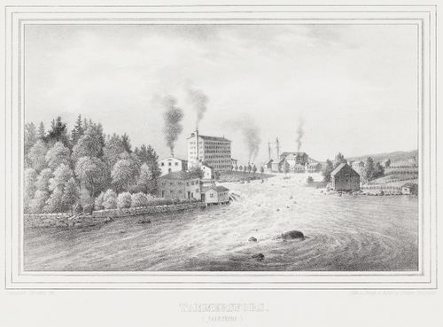 Tampere (Factories), illustration for Finland Depicted in Drawings, booklet XV