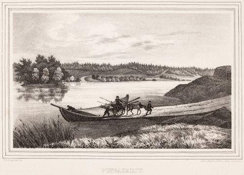 Punkaharju, kuvitusta teokseen Finland framställdt i teckningar, vihkot XI ja XII