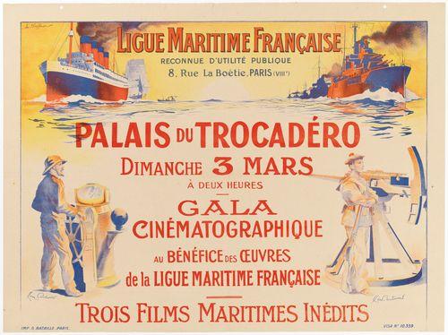 Gala cinématographique au bénéfice des oeuvres de la Ligue Maritime (juliste)