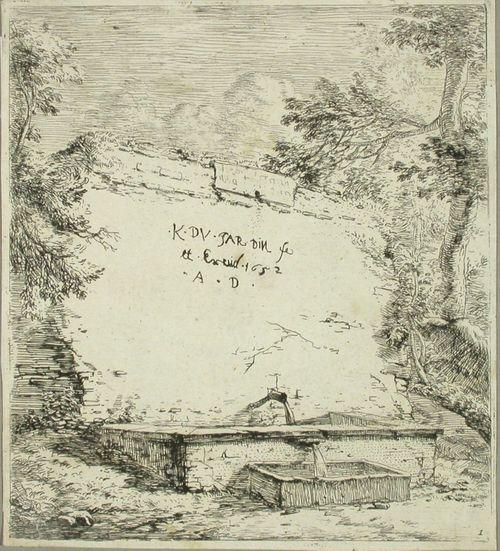 Vesiallas - Dujardinin graafisten töiden esilehti