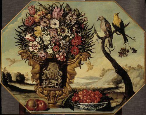 Kukkia ja pikkulintuja