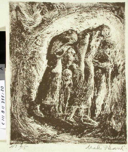 Kantelettaren kuvitusta (20) ; Kuss' on kurjat kulkemassa
