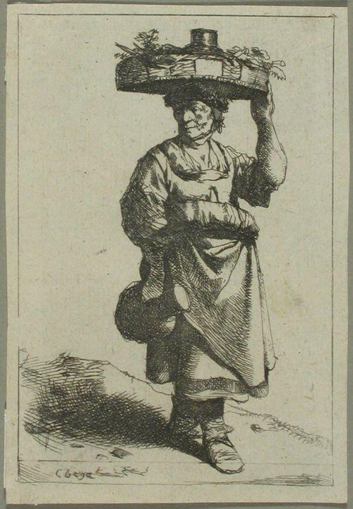 Koria päälaellaan kantava nainen (La femme portant un panier)