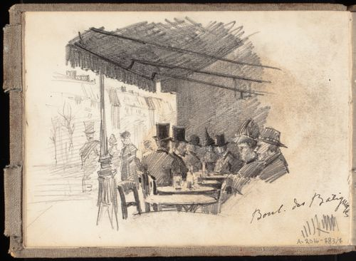 Ulkoilmakahvila Pariisissa, Boulevard des Batignolles -kadun varrella