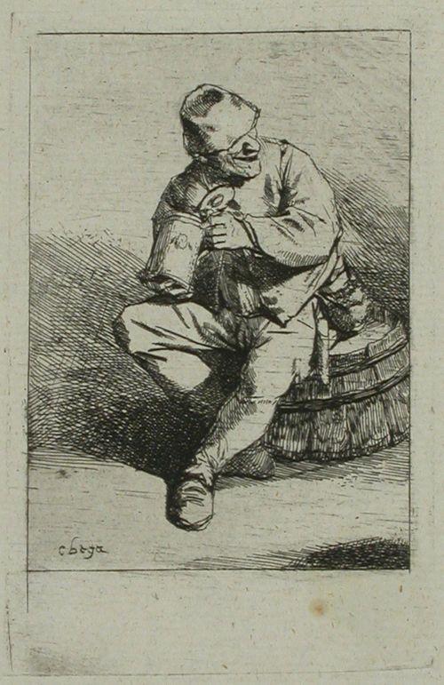 Tynnyrin puolikkaala istuva juomari (Le Buveur)