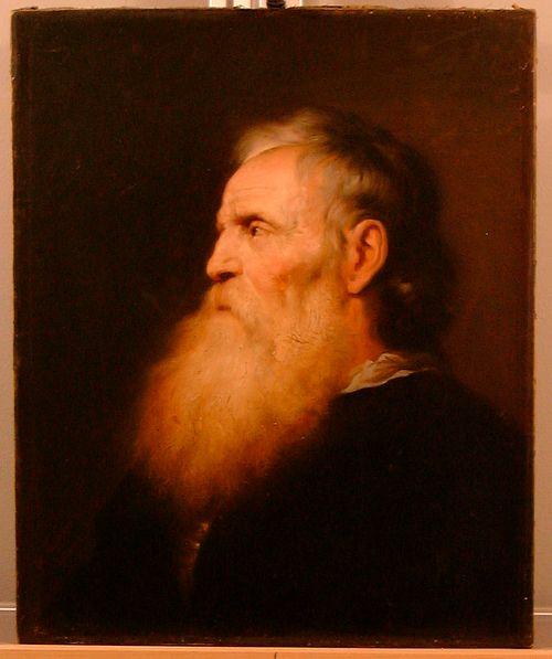 Valkopartainen mies, kopio Jan Lievensin mukaan