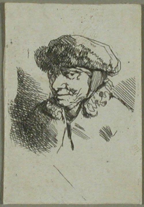 Hymyilevä vanha nainen (Vieille en bonnet fourré)