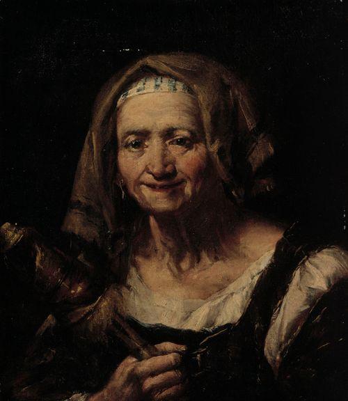 Vanha nainen ja värttinä