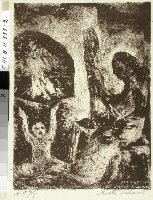 Kantelettaren kuvitusta (2) ; En ole opissa ollut