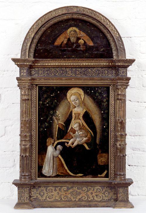 Neitsyt Maria, Jeesus-lapsi ja lahjoittaja