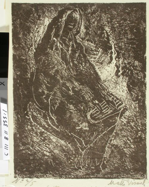 Kantelettaren kuvitusta (1) ; Soitto on suruista tehty