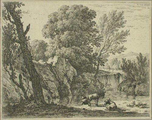 Mies ja kaksi aasia puron äärellä