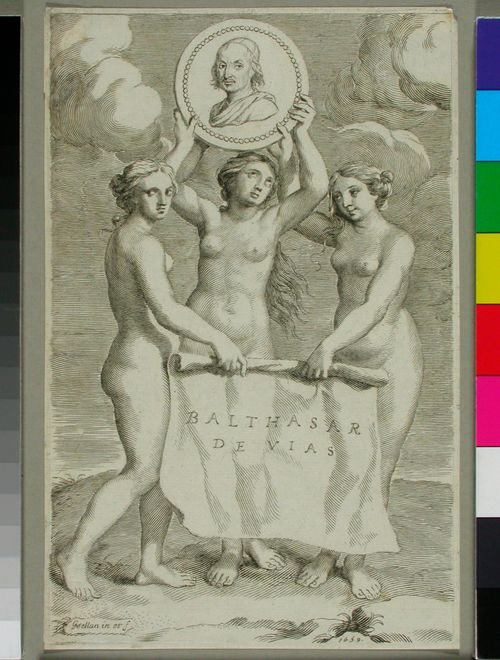 Balthasar de Vias (kolmen sulottaren kannattelemana)